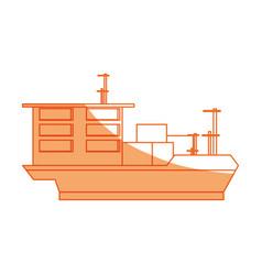 Isolated big merchandise ship vector