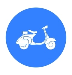 Italian scooter from Italy icon in black style vector image