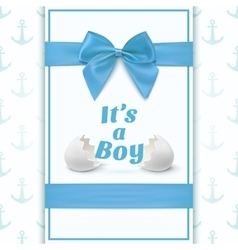Its a boy Template for baby shower vector image