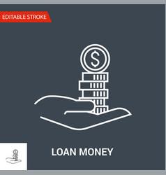 loan money icon thin line vector image