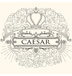 Luxurious vintage calligraphic design of frame vector image