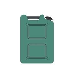 Metal canister flat icon vector