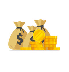 Money big pile or stack of gold coins and vector