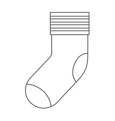 monochrome silhouette of one sock vector image
