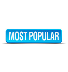 Most popular blue 3d realistic square isolated vector