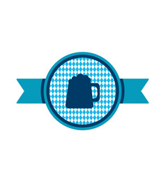 oktoberfest simple ribbon with beer mug vector image