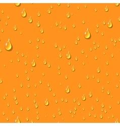 Orange water transparent drops seamless pattern vector
