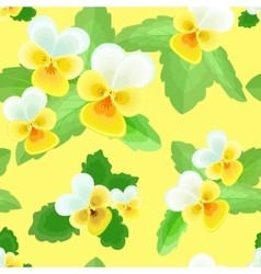 Pansies on Yellow Background vector image