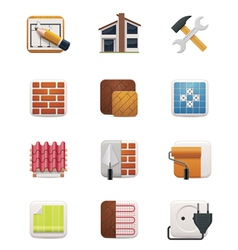 Part one of House renovation icon set vector