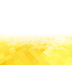 Perspective abstract yellow tiled background vector
