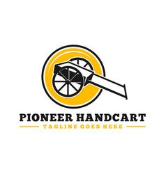 Pioneer handcart inspiration logo vector
