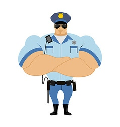 Police officer Man in form of policing Police man vector image