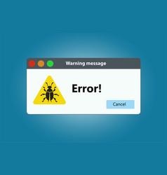 Popup error or software bug in the program vector