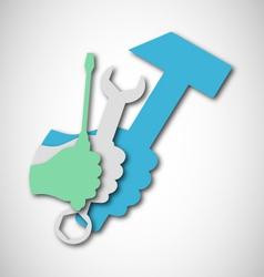 Repair tool vector