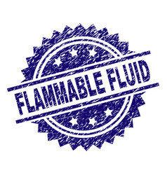 Scratched textured flammable fluid stamp seal vector