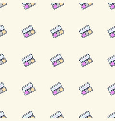 Seamless pattern with hand drawn pallets beauty vector