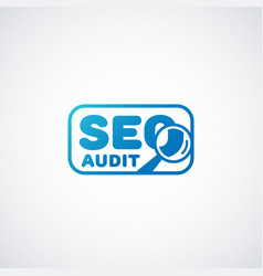 Seo audit logo vector