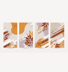 set abstract design covers vector image