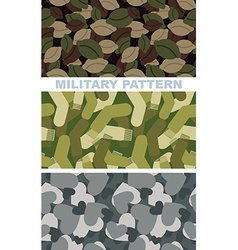 Set of military camouflage texture Army pattern of vector image