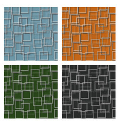 Set of seamless squares pattern vector