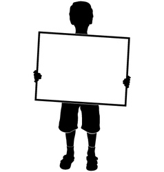 silhouette boy vector image