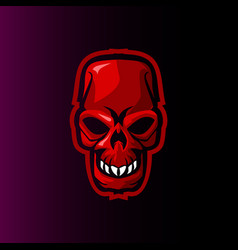 skull evil gaming mascot or e sports logo vector image