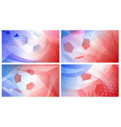 soccer backgrounds in colors of france vector image