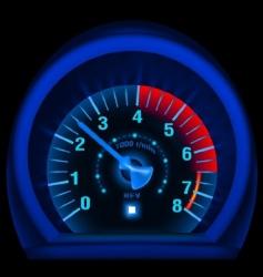 speedometer panel vector image