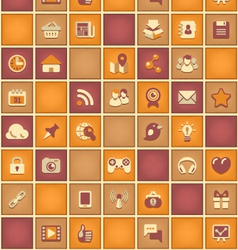 Square Pattern of Social Network in Purple Orange vector