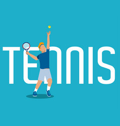 Tennis concept with player vector