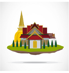 Thai temple palace vector
