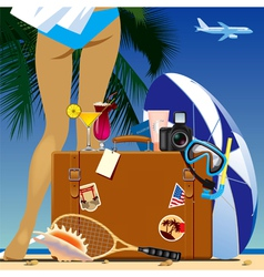 Travel bag vector