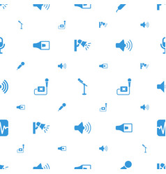 voice icons pattern seamless white background vector image