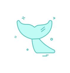 whale icon design vector image