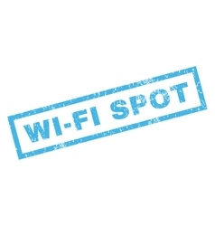 Wi-Fi Spot Rubber Stamp vector