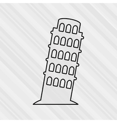 World monument design vector