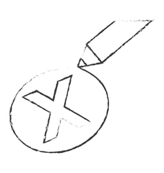 X reject or cancel icon image vector
