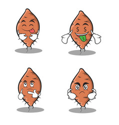 Yam character set cartoon collection stock vector