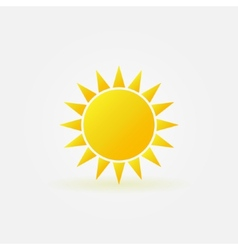 Yellow sun logo or icon vector image