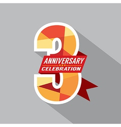 3rd Years Anniversary Celebration Design vector image