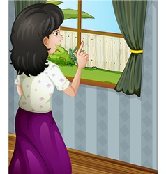 A woman at the window vector image