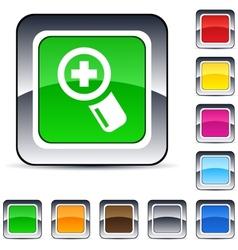 add square button vector image