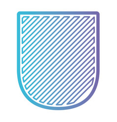 badge striped in color gradient silhouette from vector image