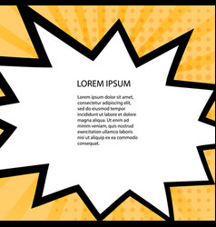 card with comic style design template pop-art vector image