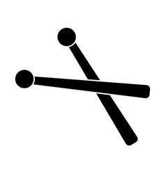drumsticks icon black sign vector image vector image