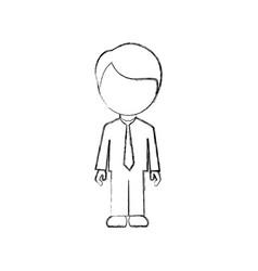 figure man sticker icon vector image