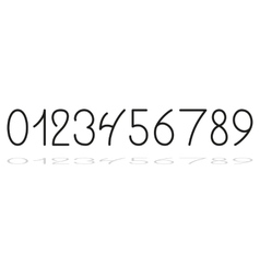 Hand drawing numbers vector image