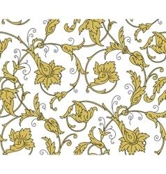 Luxury Golden Seamless Wallpaper Pattern vector image vector image