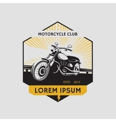 Motorcycle club label Motorcycle symbol vector image