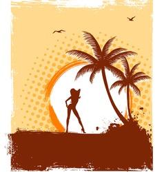 tropic girl grunge vector image